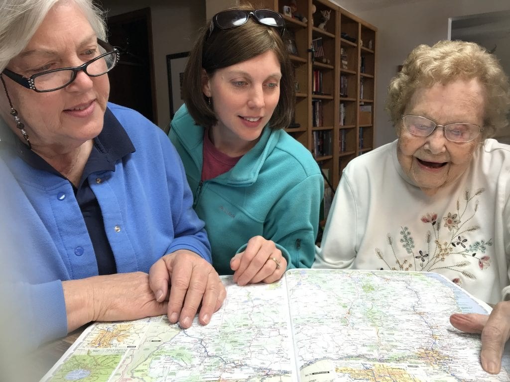 trip planning mom sharon grandma