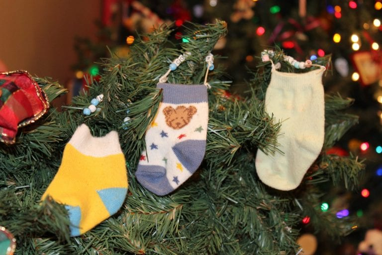 DIY Baby Sock Ornament