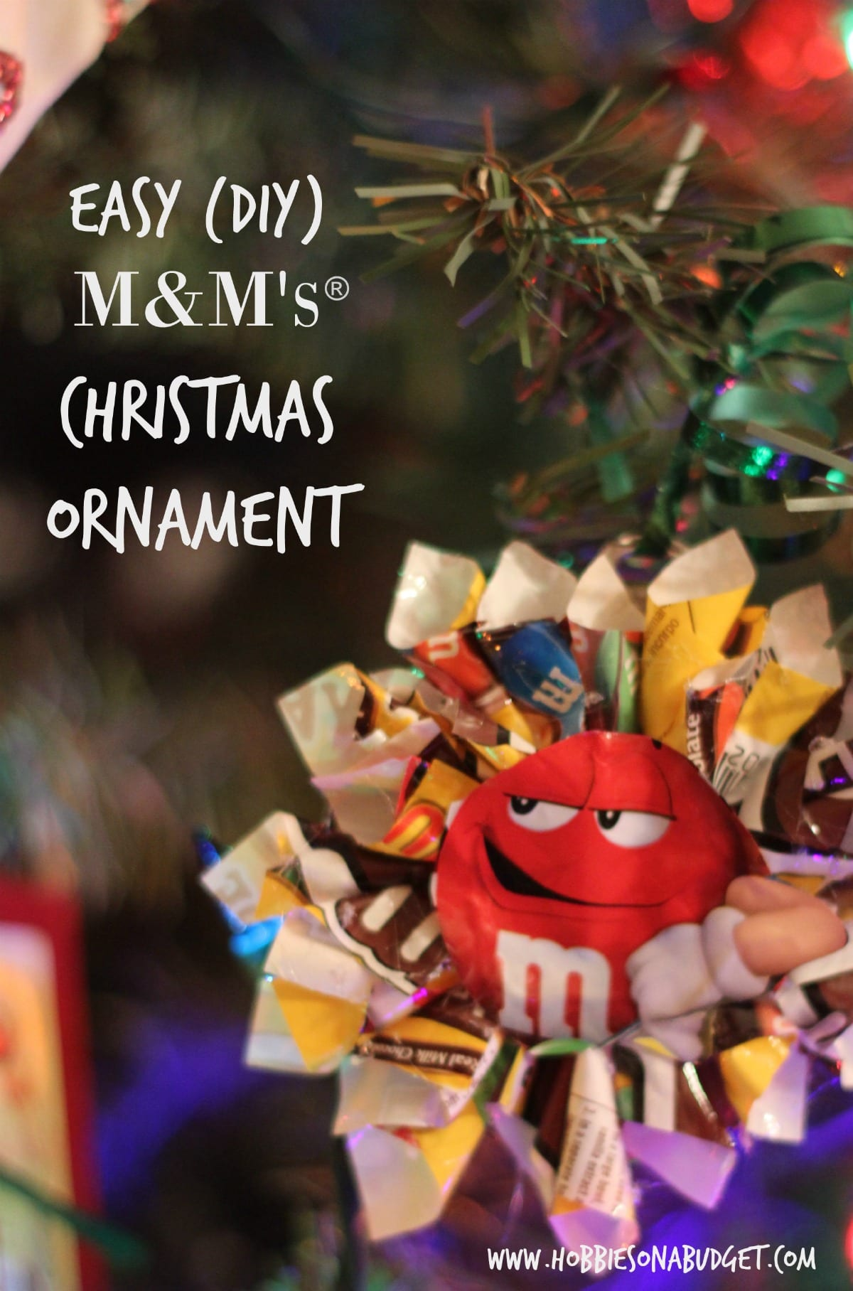 How to Make a Candy Wrapper Christmas Ornament - Hobbies on a Budget