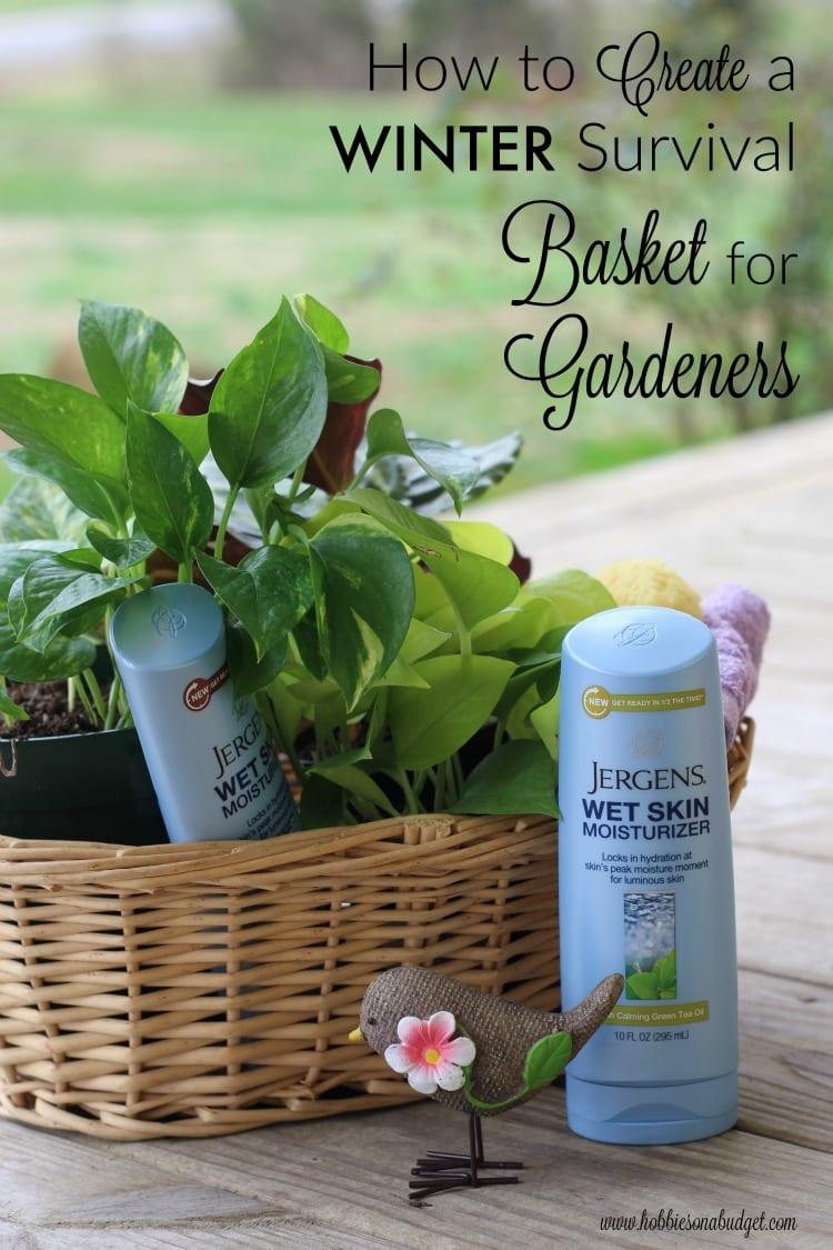 survival basket for gardeners