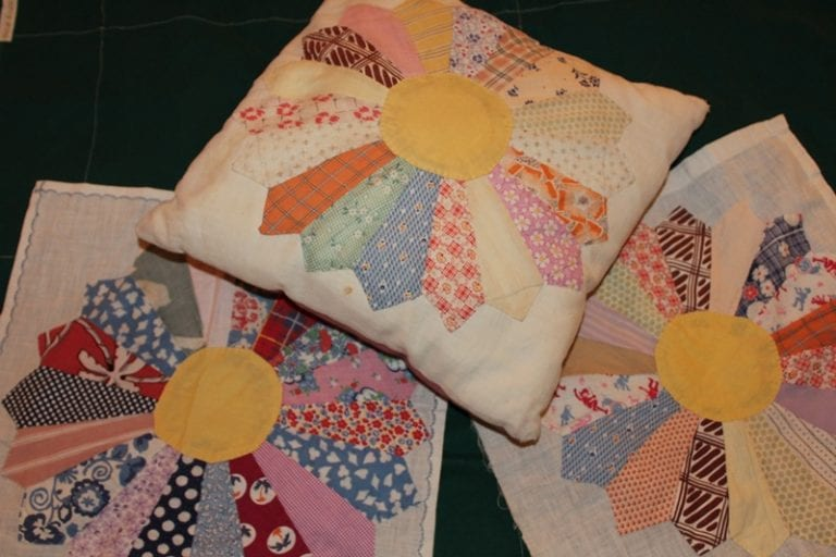 Pearl's Quilt and the Pillows