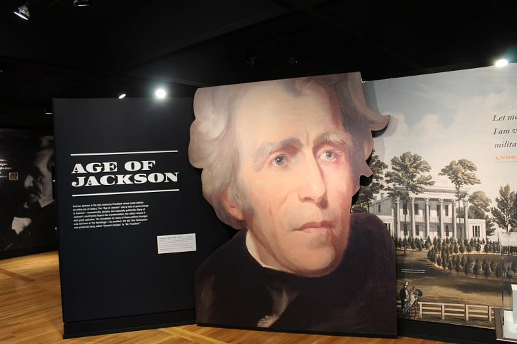 Learning about Andrew Jackson at the Hermitage in Nashville, Tennessee