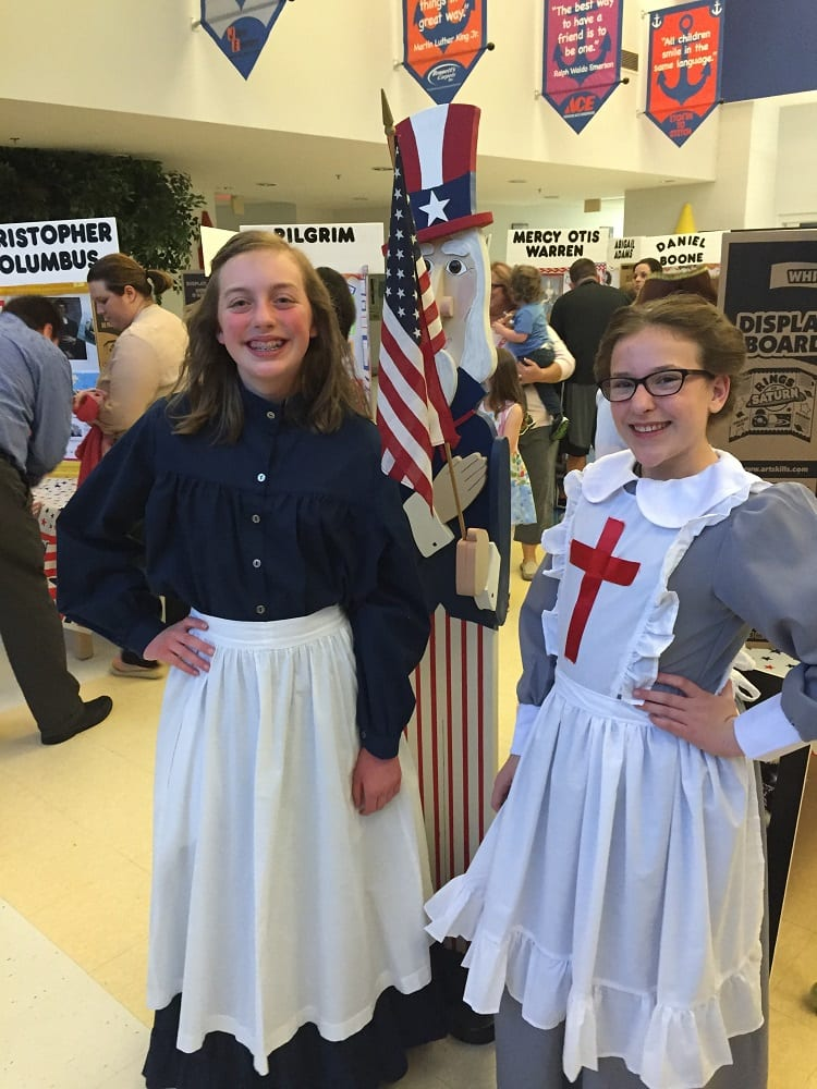 Betsy Ross and Clara Barton at the Wax Museum