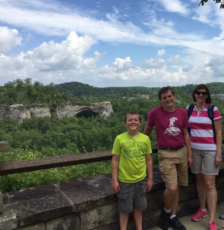 Hiking the Natural Arch, McCreary County, KY