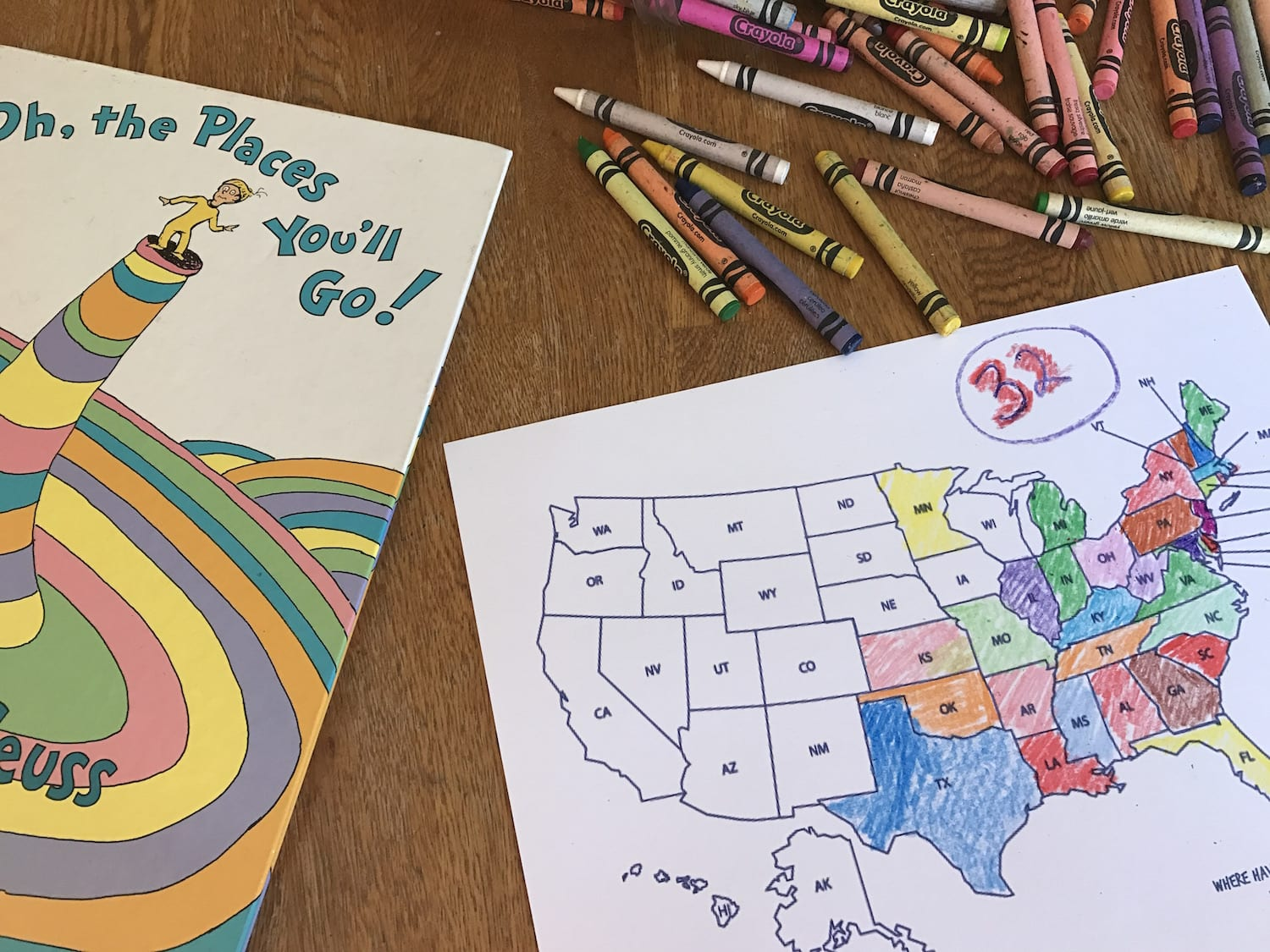 State map coloring sheet