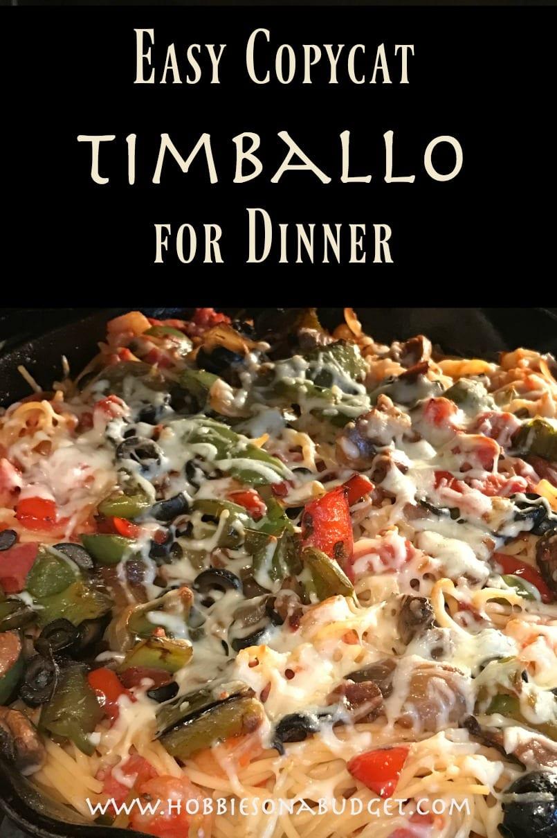 Easy Copycat Timballo Recipe for Dinner
