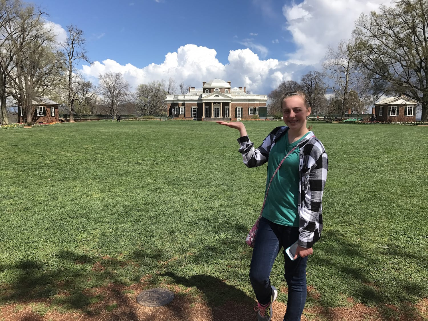 Natalie with Monticello Perspective picture