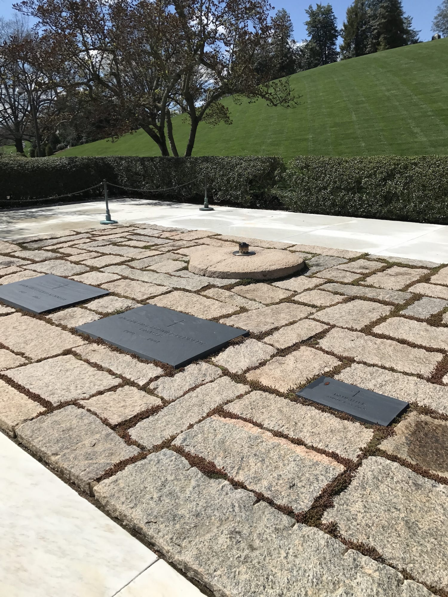 President John F Kennedy's Grave and Eternal Flame - Arlington Cemetery