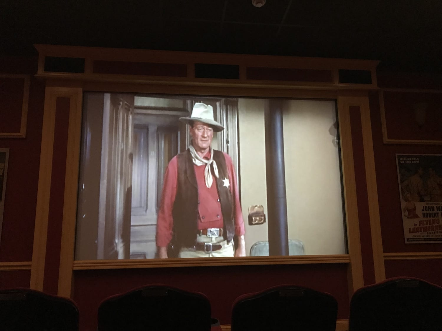 Movie Theater inside John Wayne Birthplace Museum Winterset Iowa