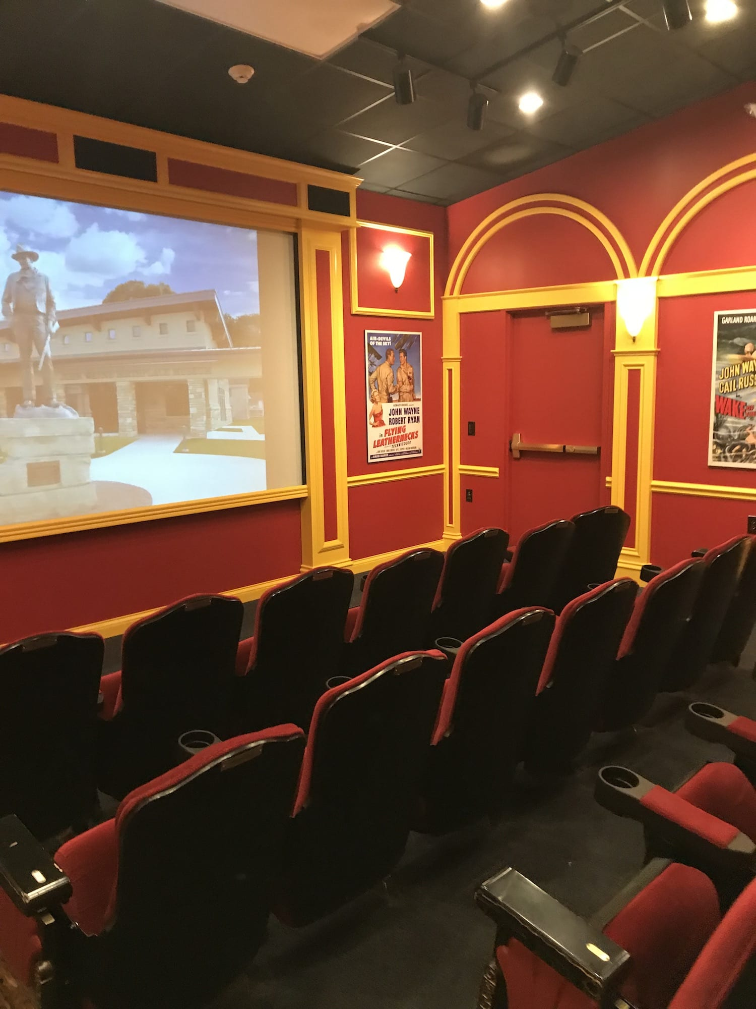 Theater inside the John Wayne Birthplace Museum Winterset Iowa