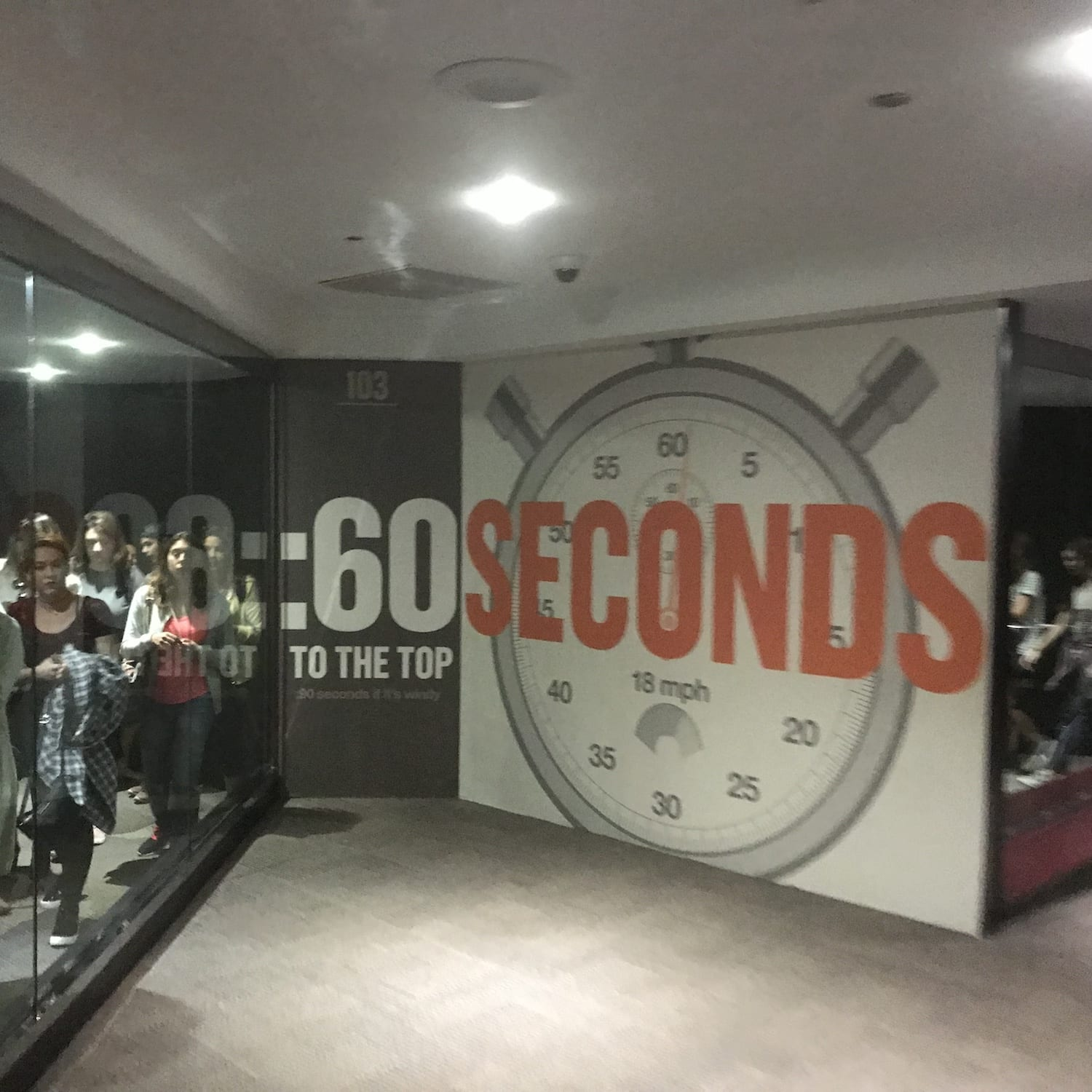 60 seconds to the top of Willis Tower