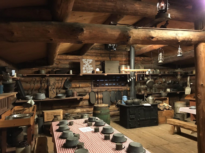 Cook shack at Paul Bunyan Logging Camp Museum