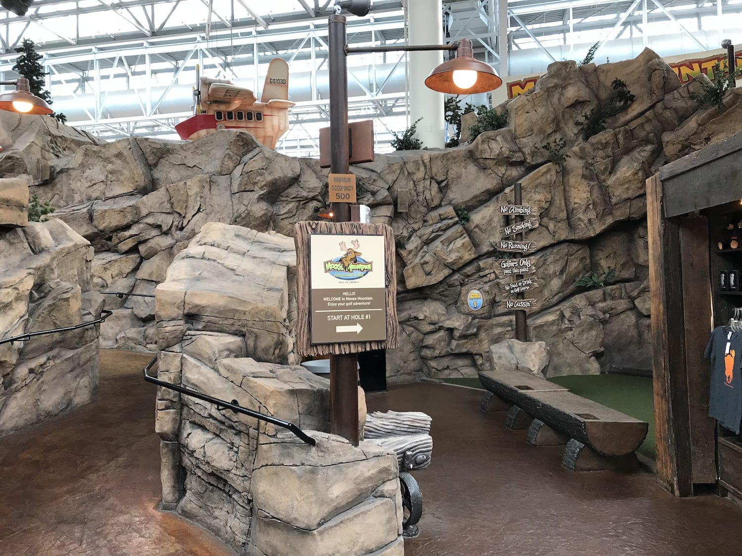 Moose Mountain Adventure Golf Mall of America Minnesota