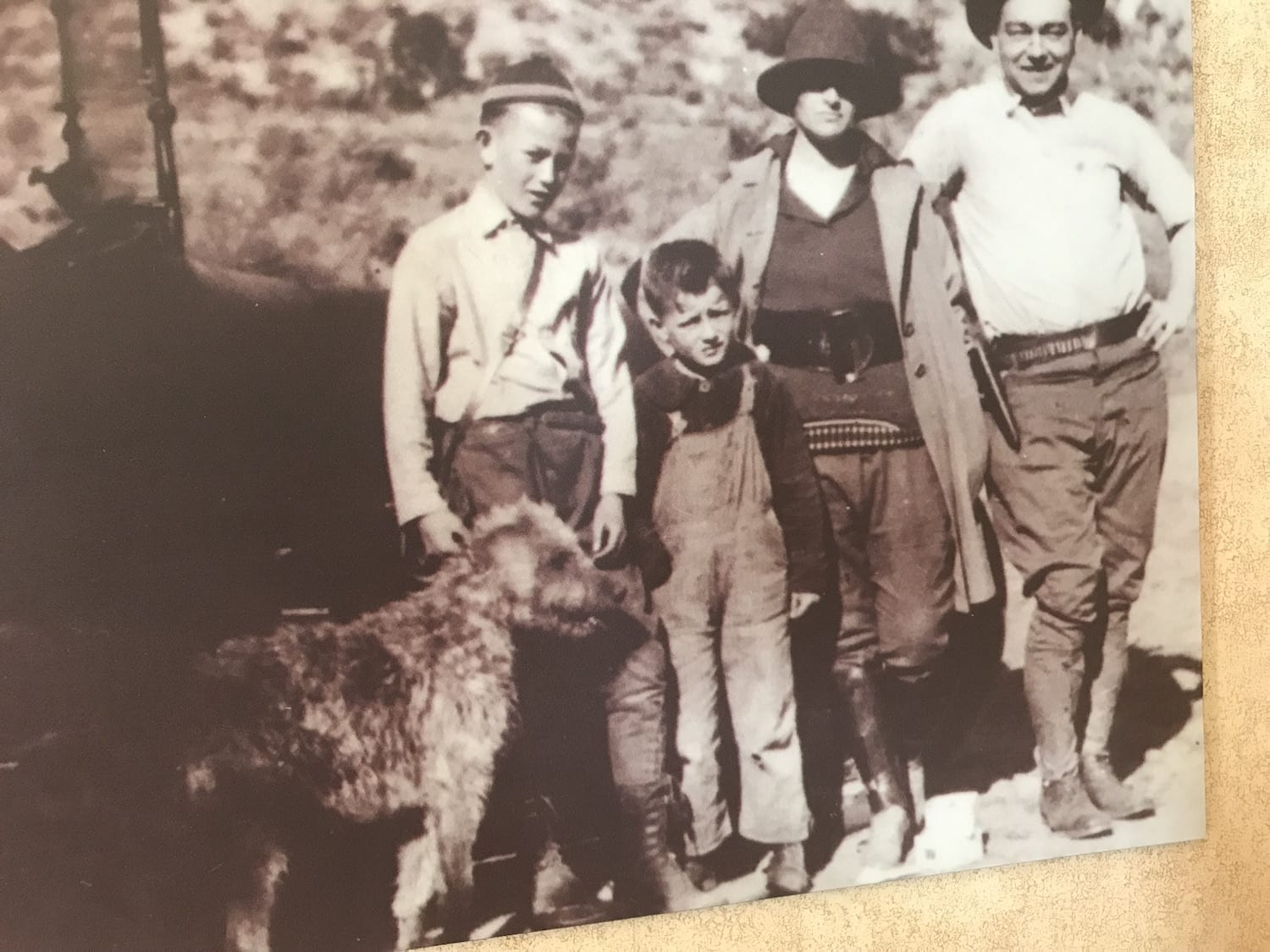 John Wayne Family picture with dog Duke
