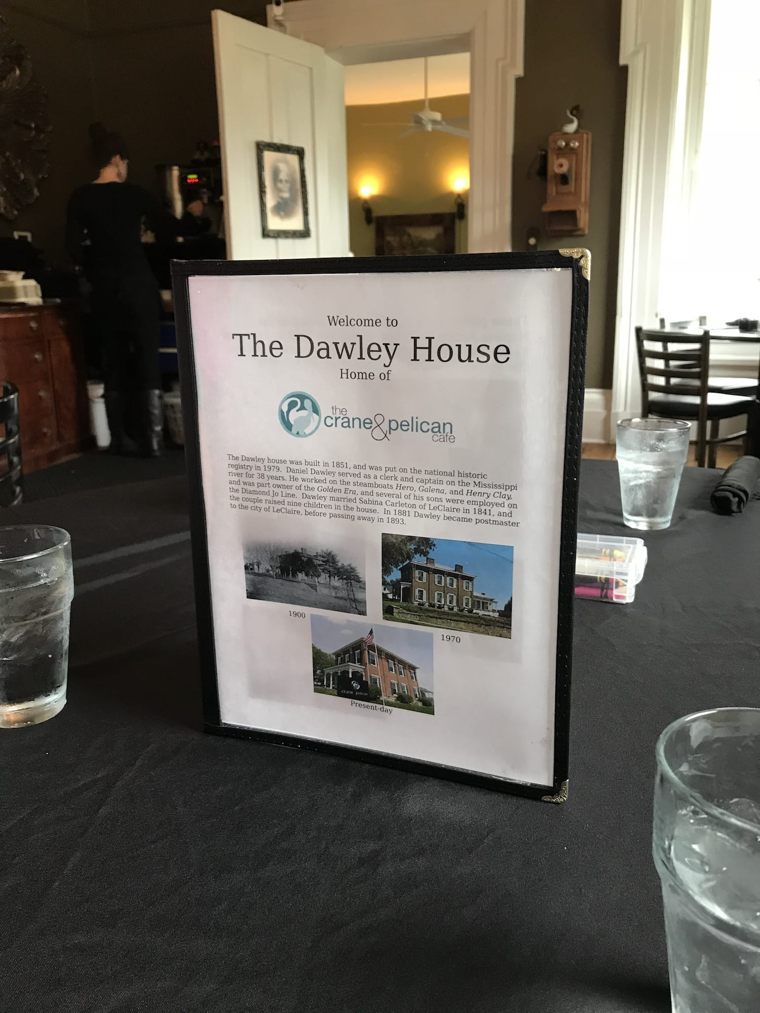 the Dawley House - Home of the Crane & Pelican Cafe