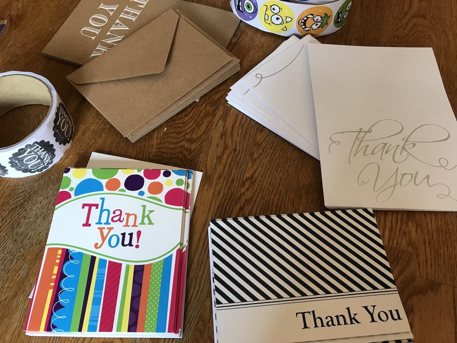 Don't forget to say thanks! Offer thank you notes for the family to use.