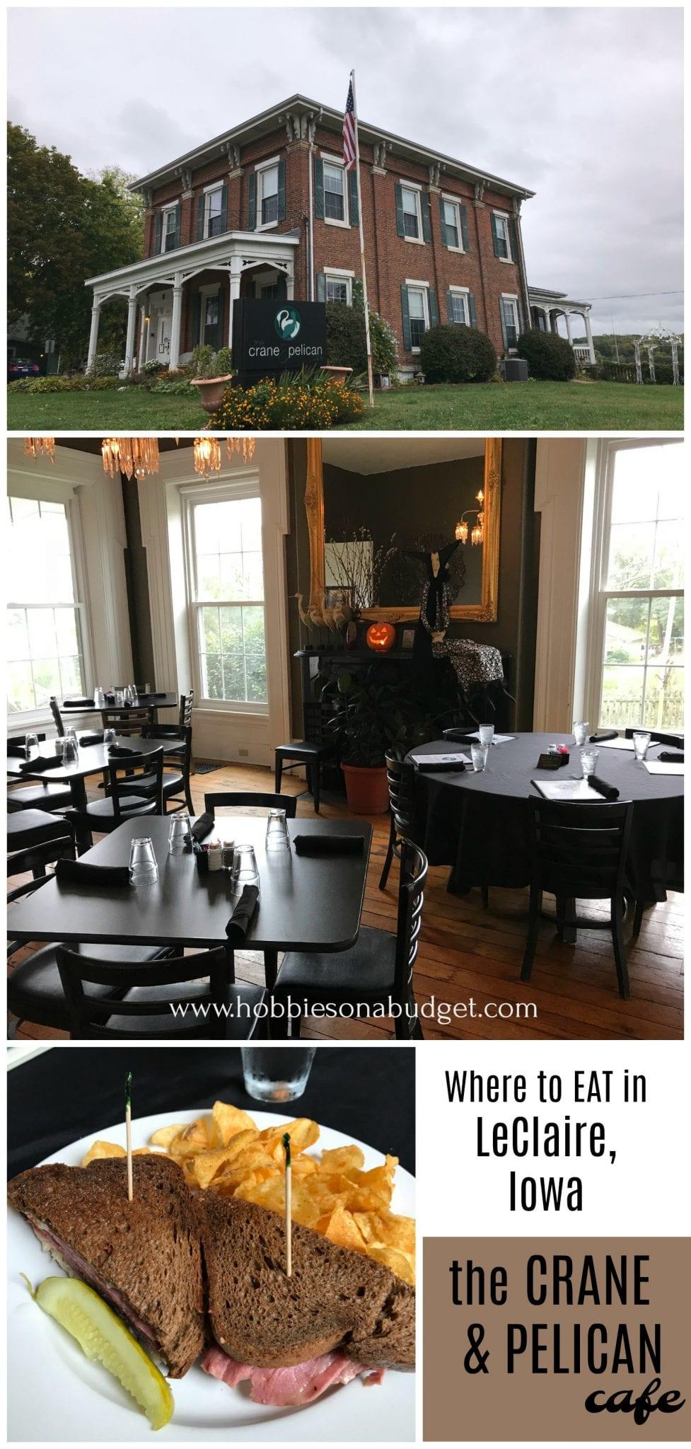 the Crane & Pelican Cafe - LeClaire Iowa