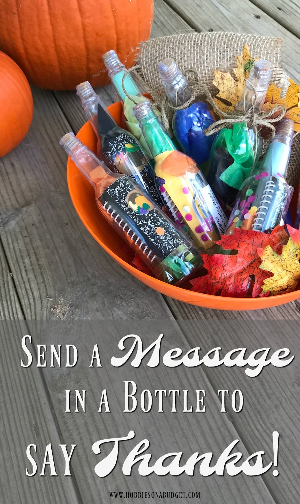 Send a message in a bottle to say thanks