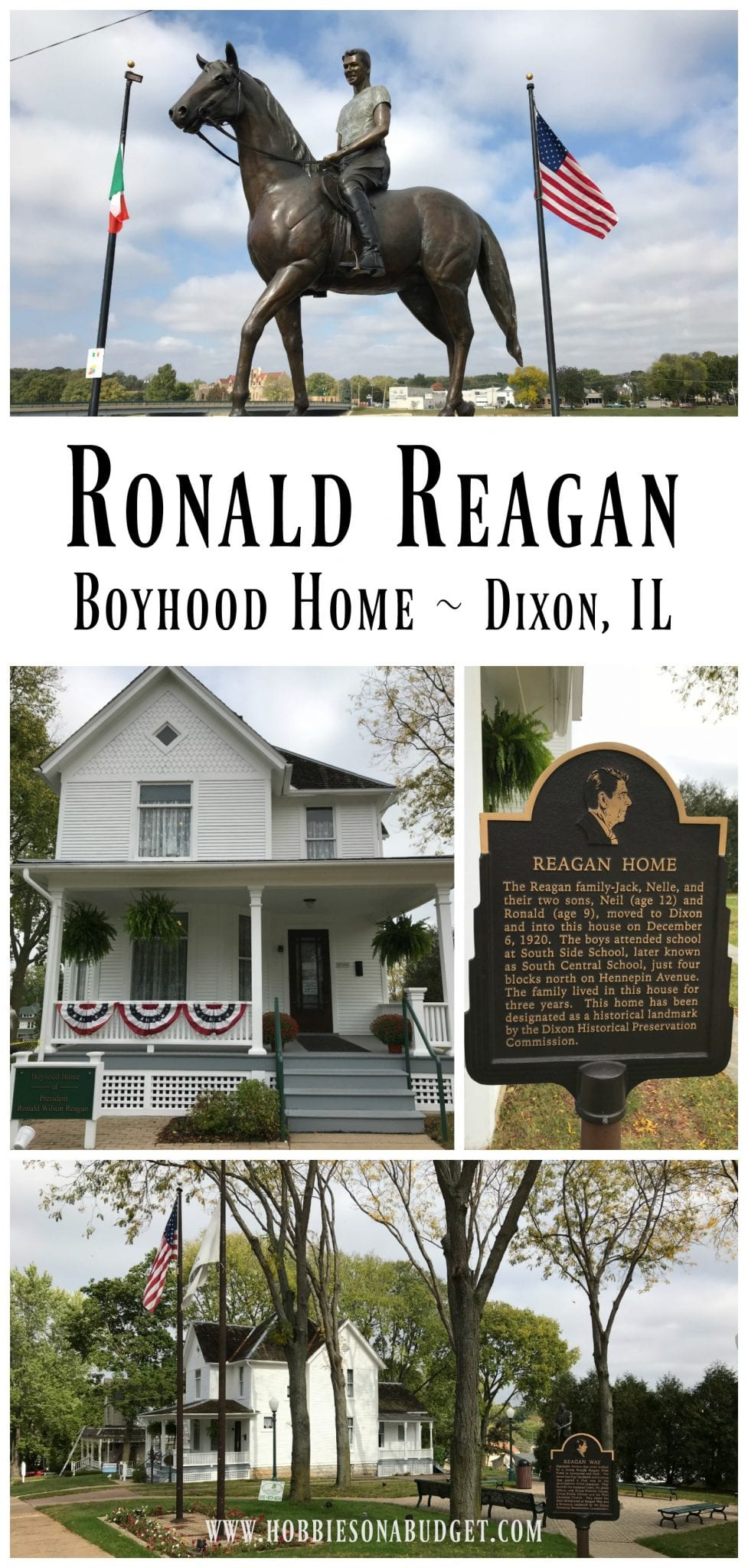 Ronald Reagan Boyhood Home in Dixon Illinois is a great place to learn about President Reagan.