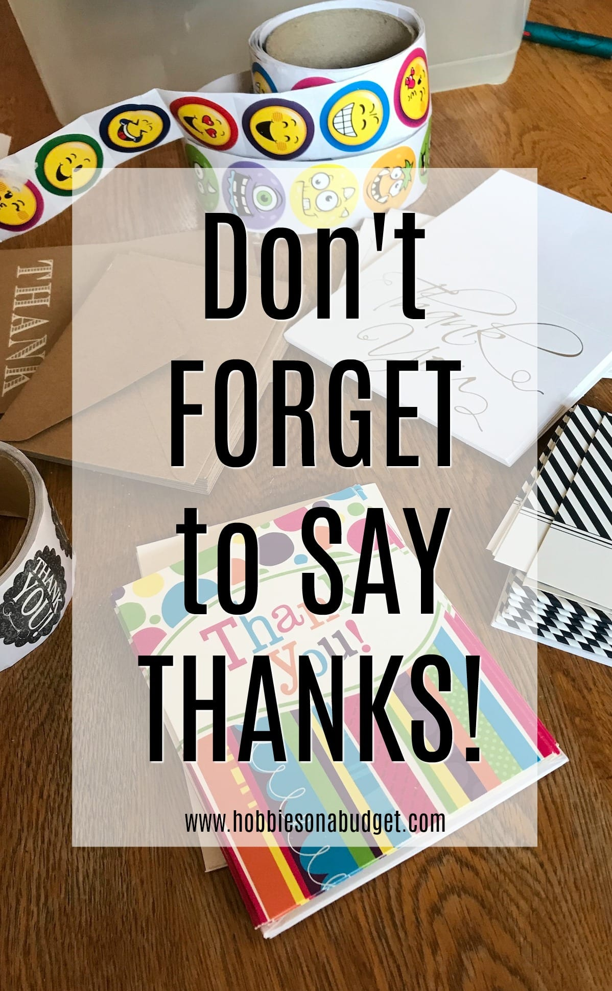 Don't forget to say thanks