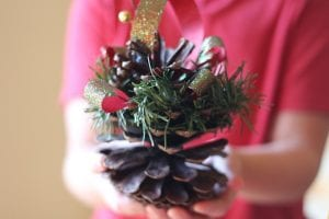 Christmas ornament pinecone