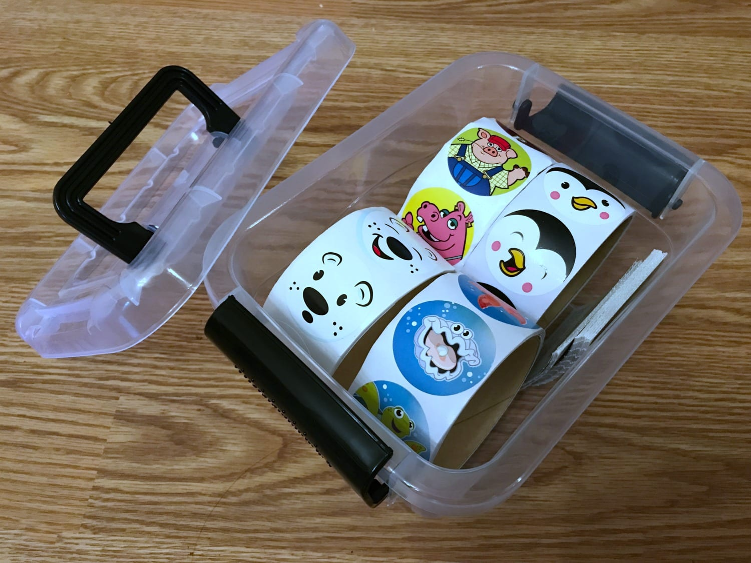 Store your stickers in a box