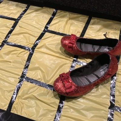 DIY Glitter Ruby Slippers