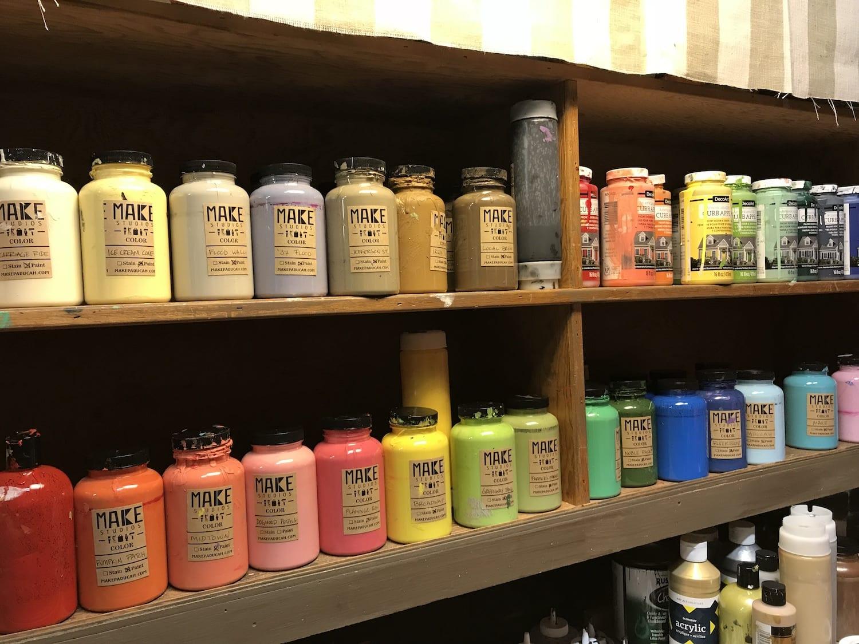 Paint options at MAKE Paducah