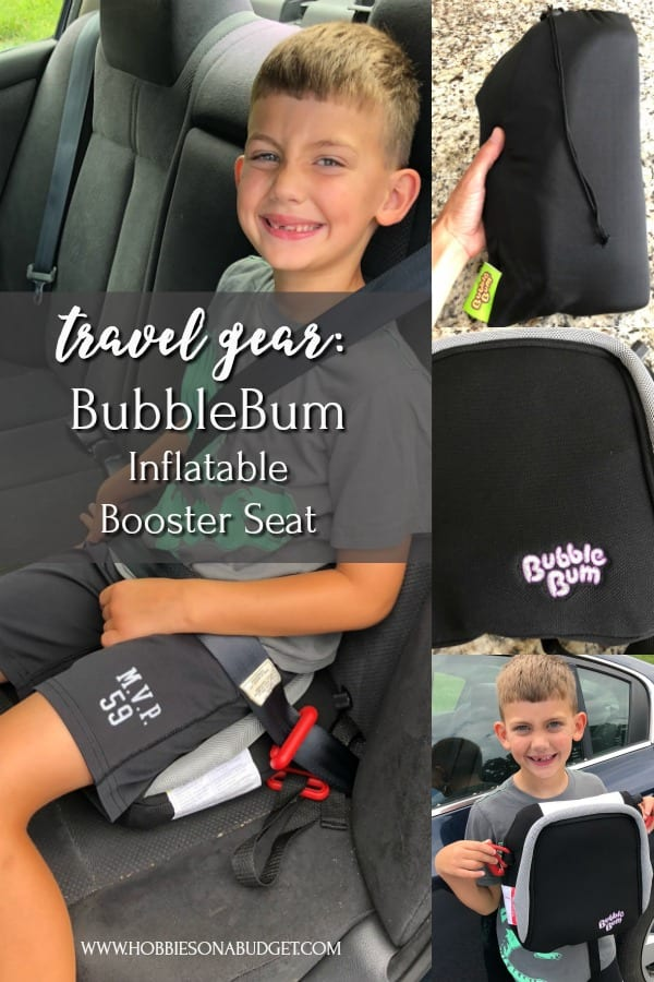 BUBBLEBUM INFLATABLE BOOSTER SEAT TRAVEL GEAR