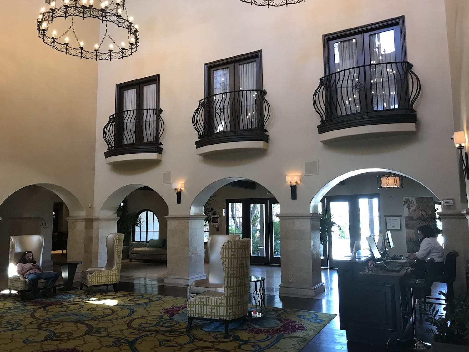 Check in at the Omni Resort