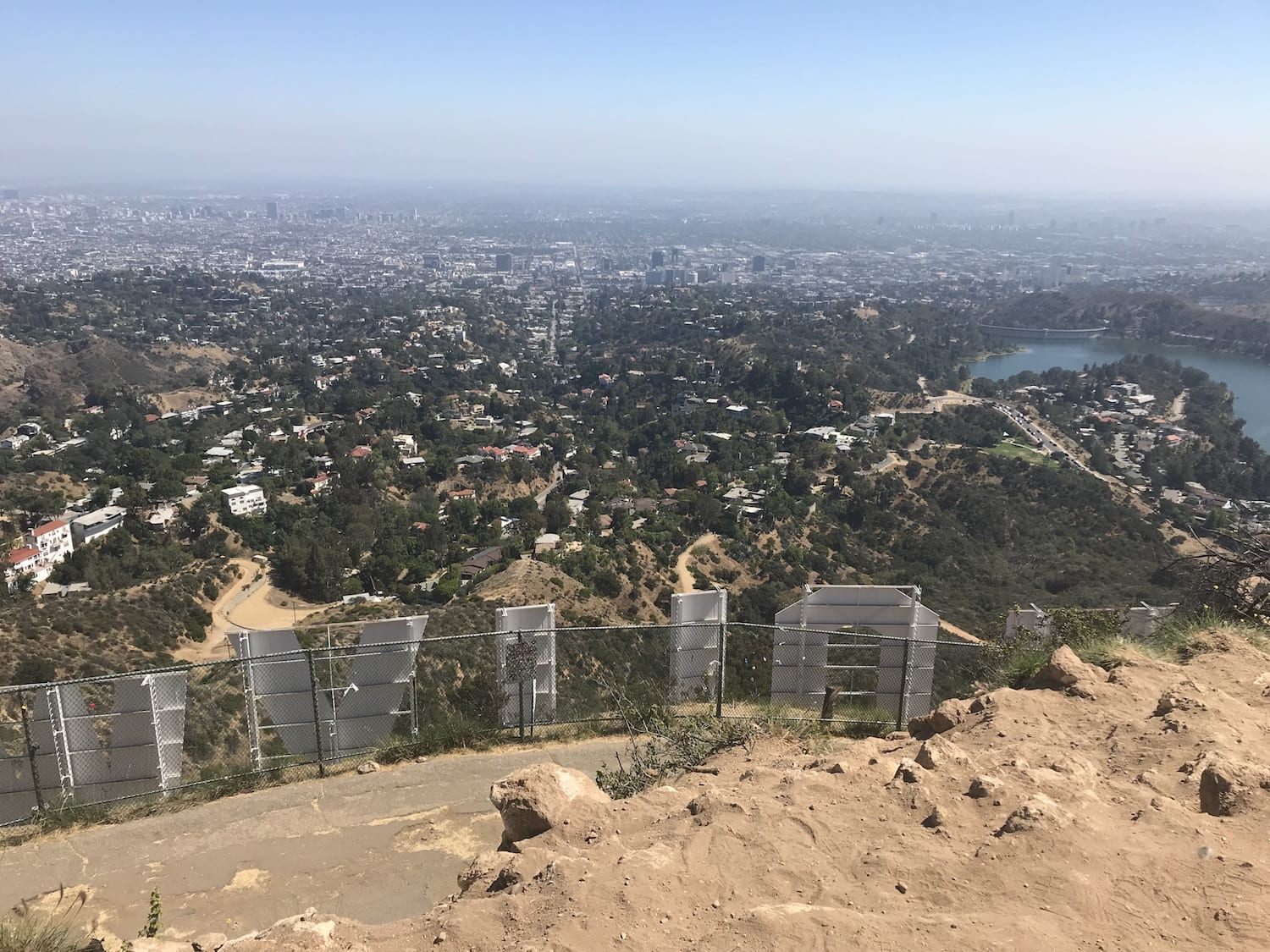Hollywood Sign from the top