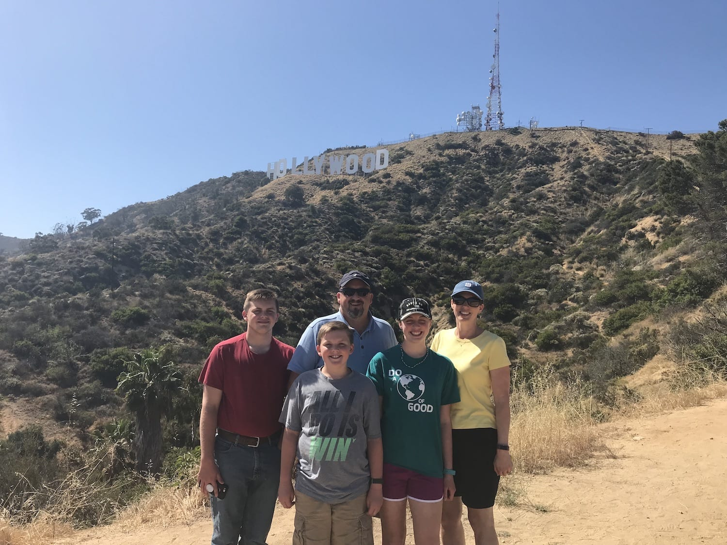 Hollywood Sign with family