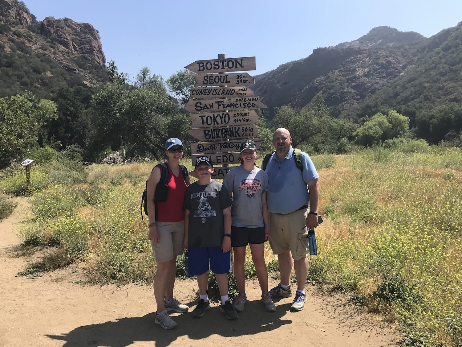 Family picture at the M*A*S*H hike
