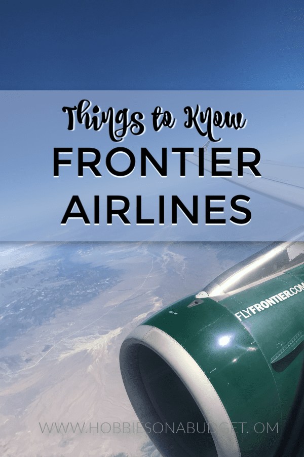 Things to Know Frontier Airlines