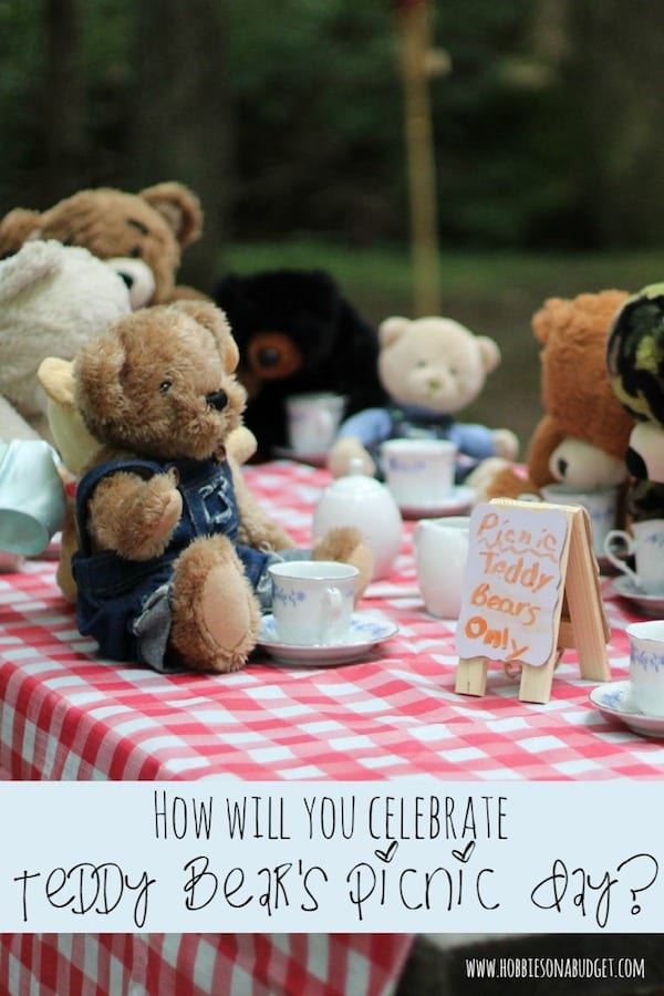 Are you looking for a simple, free idea for you and the kids today? Why not invite all your stuffed teddy bears to a picnic in the backyard? Today's the day, the teddy bears have their picnic. Who has a favorite teddy bear from their childhood? Here are some ways to celebrate Teddy Bear Picnic Day! #teddybear #picnic #summer