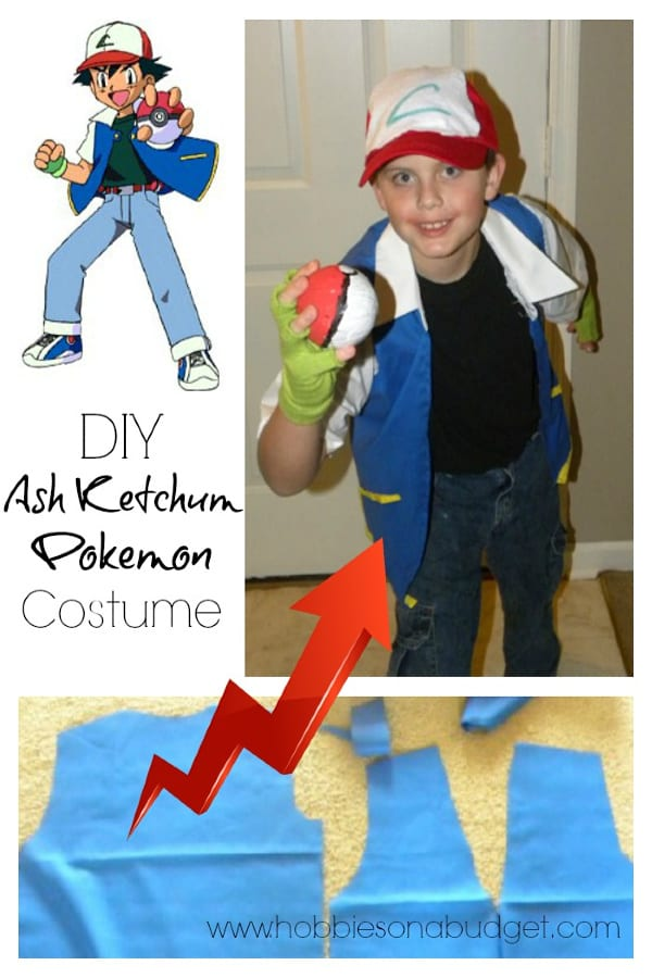 Do you have a Pokemon fan in your house this Halloween?  Check out this DIY Ash Ketchum Pokemon Costume so you can be ready for Halloween!