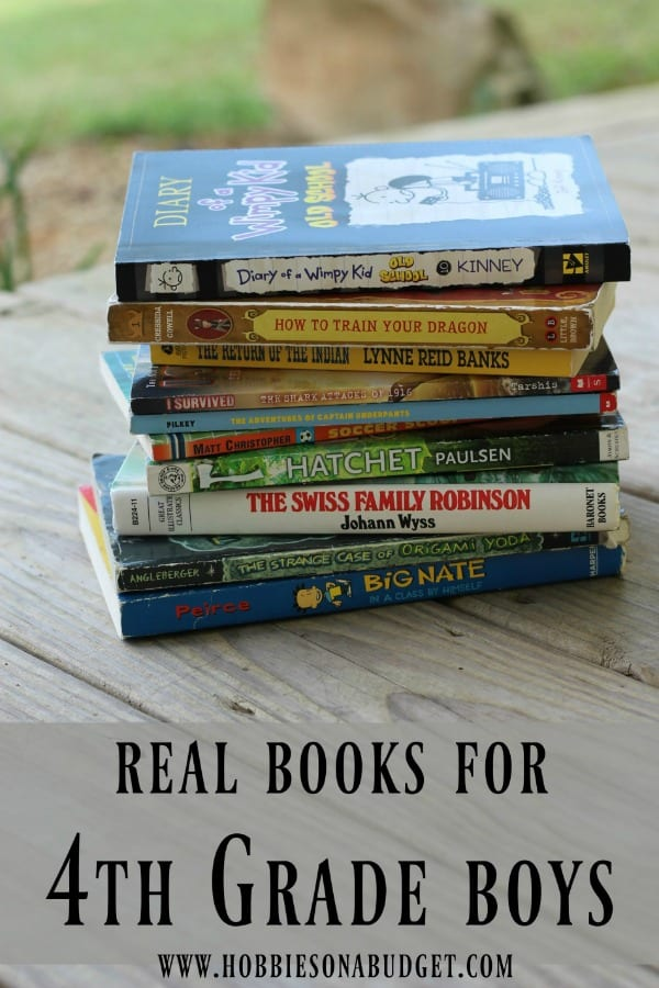 Real Book Ideas for 4th Grade Boys