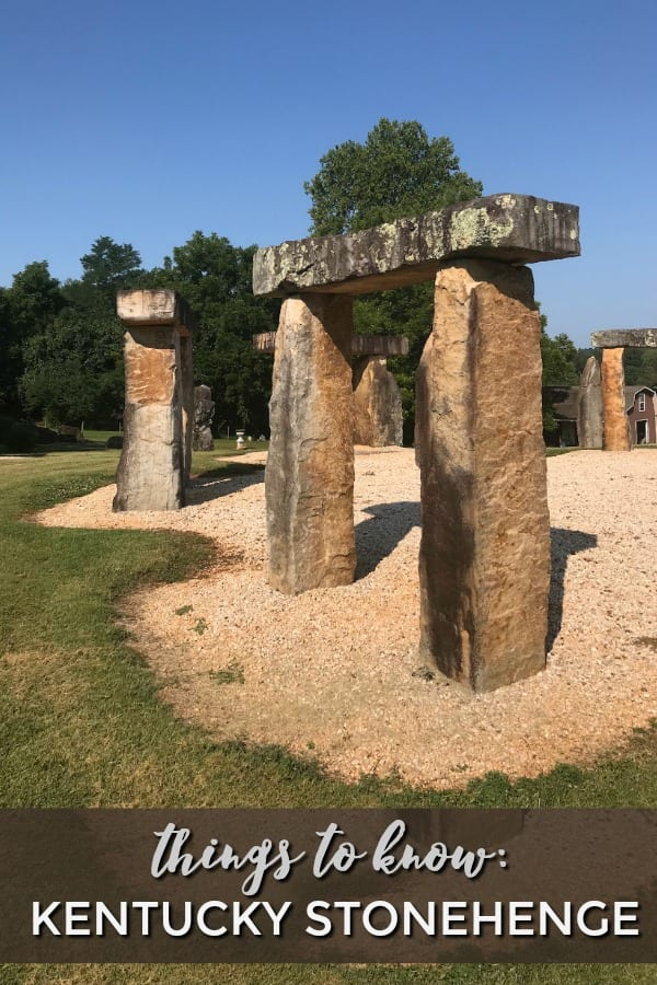 We just discovered that a Kentucky man has created his own version of Stonehenge in his own backyard. If you are looking for a unique FREE experience just minutes off the interstate, you need to check out Kentucky Stonehenge in Munfordville. #vacation #roadtrips #kentucky