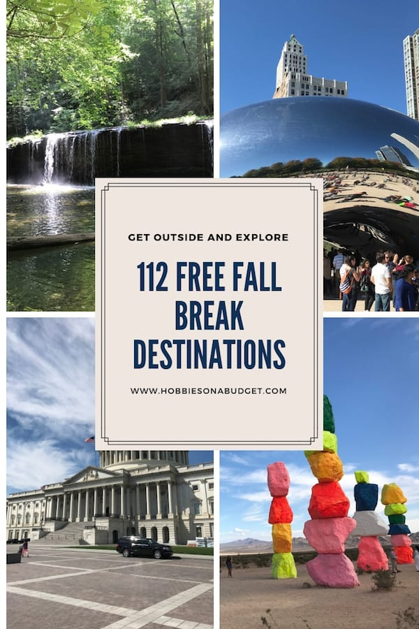 Whether you are staying close to home this Fall or looking for something a little farther from home for Fall Break, I've got some great FREE Fall Break Destinations for you divided by states. And ALL of these ideas are FREE!