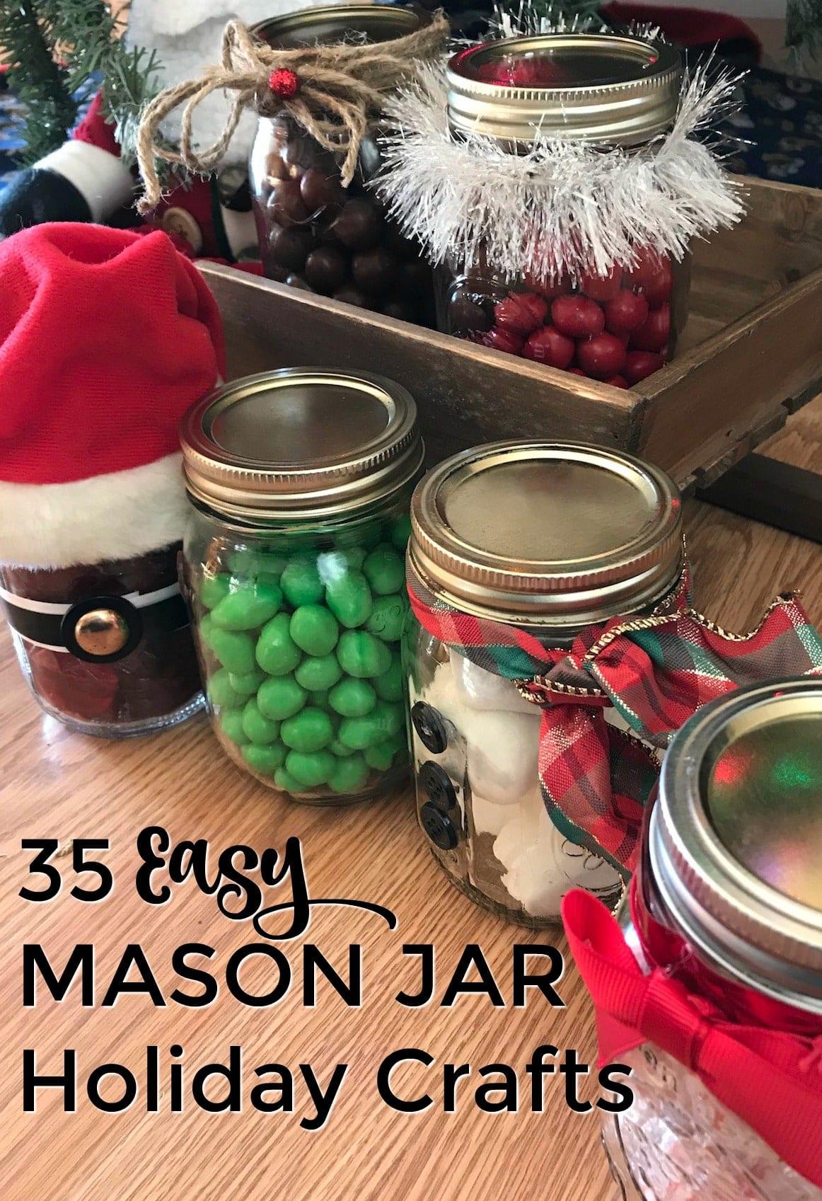 35 easy mason jar holiday crafts