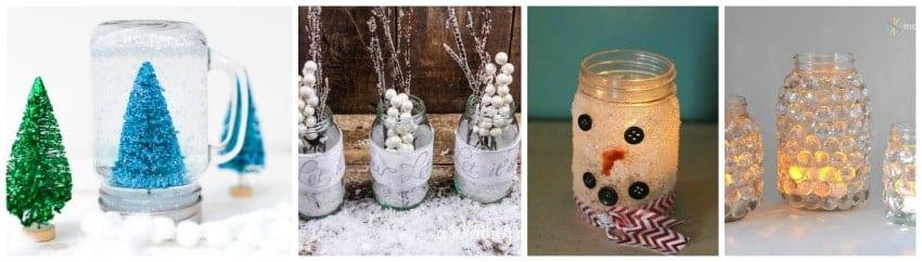 mason jar snowglobes