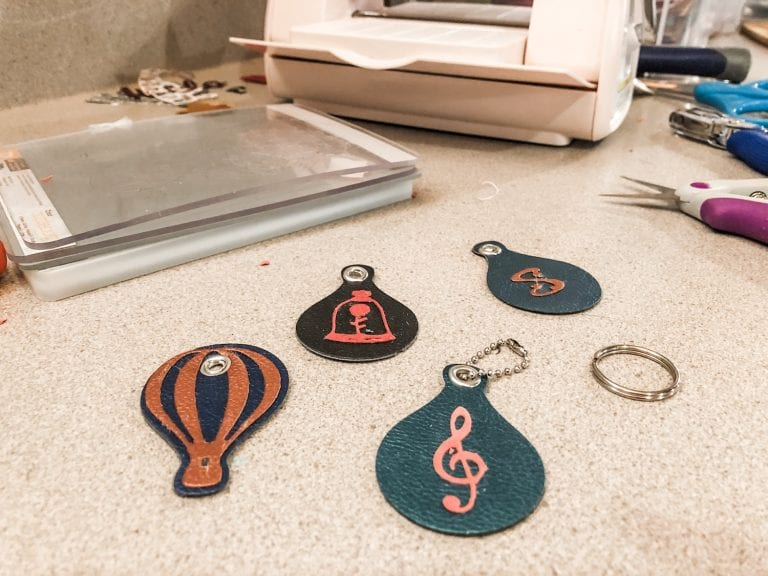How to make Faux Leather Keychains