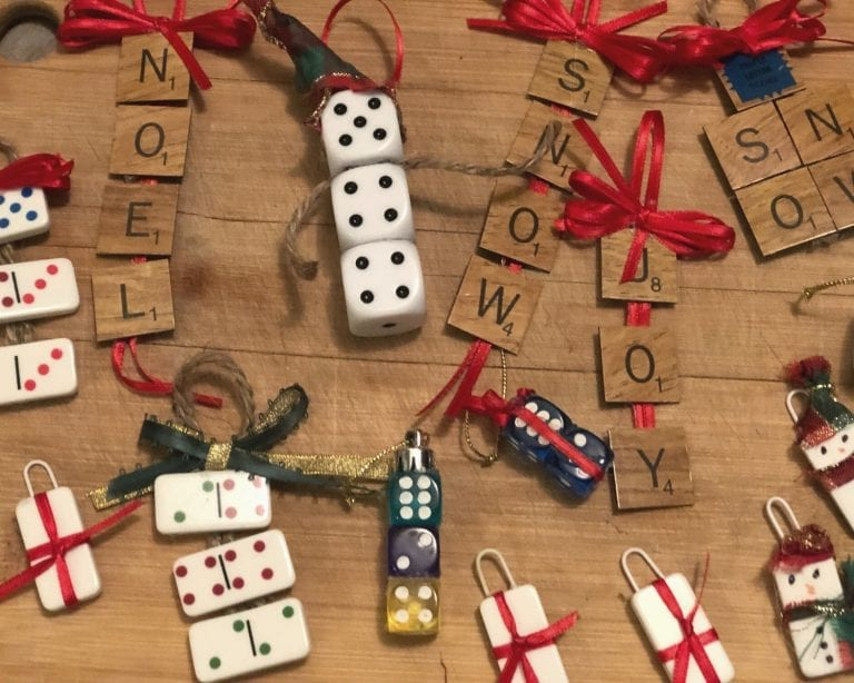 How to Create Christmas Ornaments with Game Pieces