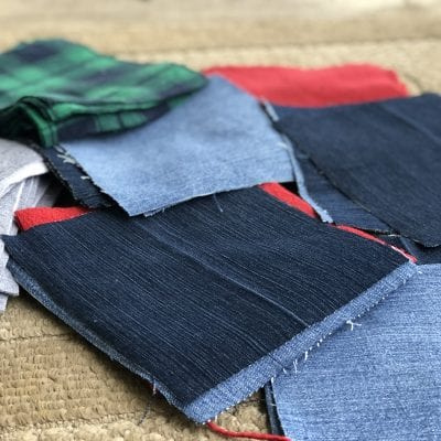 Blue Jean & Flannel Rag Quilt: Week 1
