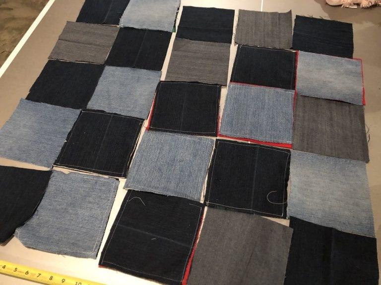 Blue Jean Flannel Quilt:  Week 2