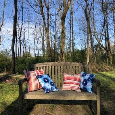 Easy Patio Pillows with Reusable Shopping Bags