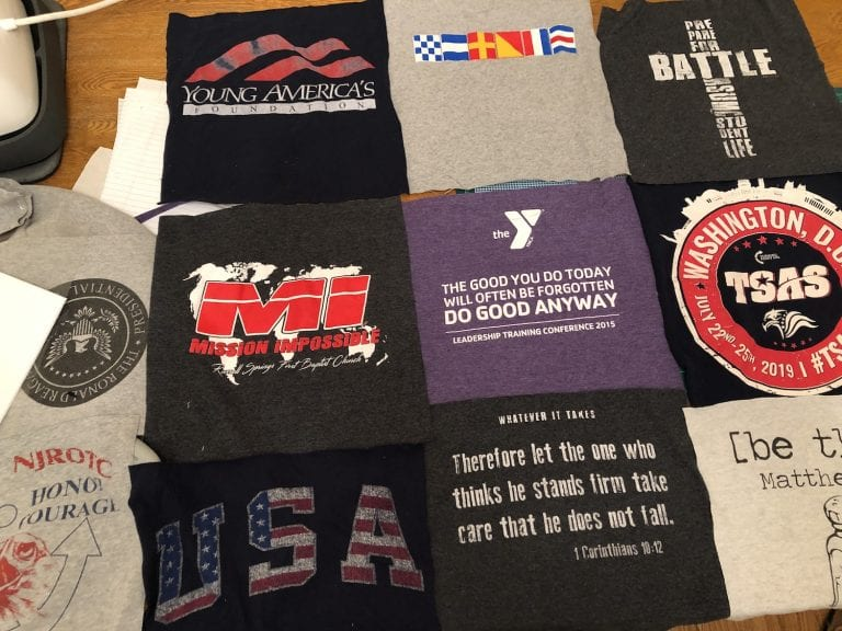 How to Make a Tshirt Memory Quilt – Week 1