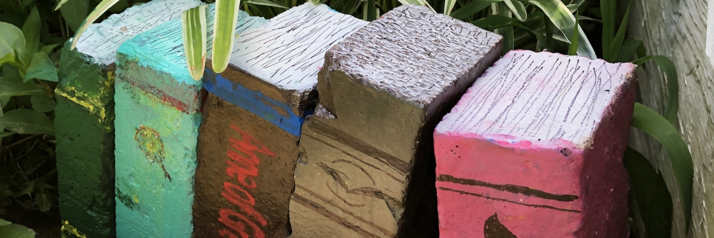 how to create books out of bricks