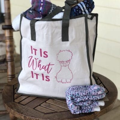 """It Is What It Is"" Tote Bag Gift with Cricut Vinyl"