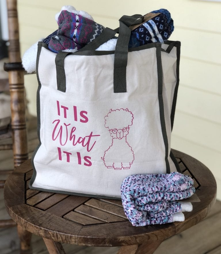 """""""It Is What It Is"""" Tote Bag Gift with Cricut Vinyl"""